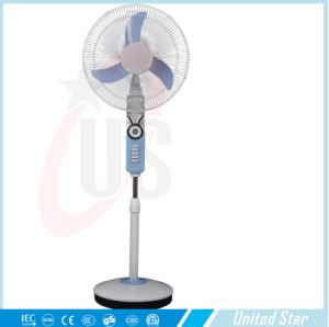 Electric Fans with Battery Solar Powered Fan 12V DC Standing Fan Price pictures & photos