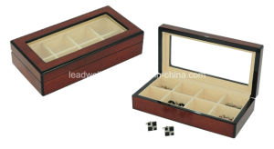 Luxury Wooden Cufflink Box High Gloss Cherry Display Storage Box pictures & photos