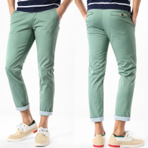 China Latest Design Casual Men Chino Cotton Pants pictures & photos