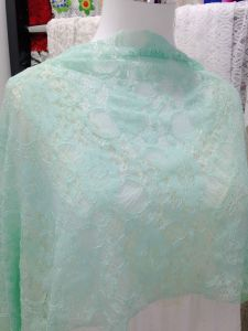 Green Stretch African Crochet Fabric Lace (NF1006) pictures & photos