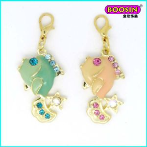 Lovely Wholesale Handmade Cheap Enamel Gold Pendant pictures & photos