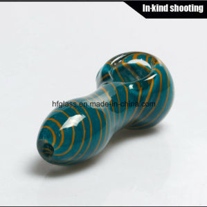 Colored Smoking Pipes for DAB Wax Spoon Hand Pipe Tobacco Pocket Glass Pipe pictures & photos