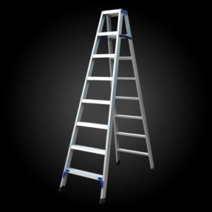 """""""a""""Model Thicken Household Folding Aluminum Ladder pictures & photos"""