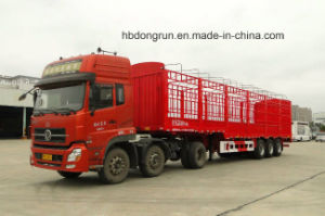 Dongrun Manufacturer 40-65t 3 Axle Side Wall Fence Semi Trailer