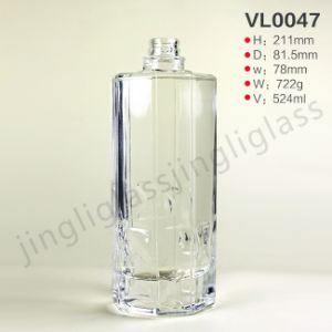 Excellent White Glass Material Vodka Bottle with Good Appearance pictures & photos