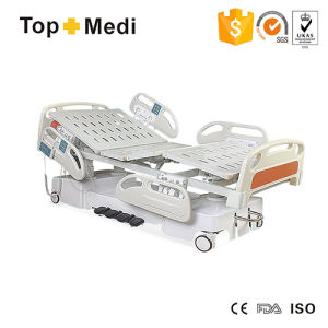 Topmedi Hospital 7 Function Central Locking Electric Hospital Bed pictures & photos