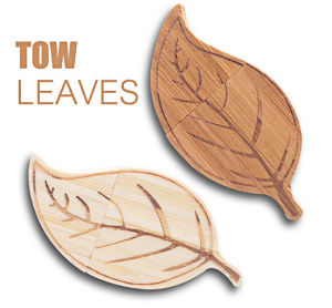 Suntrsi Leaf Shape Wood USB Flash Drive Christmas Gift Pendrive 16GB Flash Drive 32GB pictures & photos