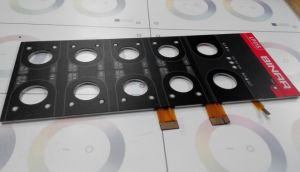 LEDs Backlighting Aluminium Back Panel FPC Membrane Switch pictures & photos