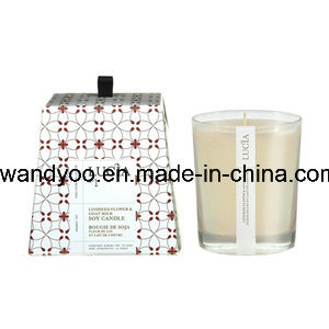 Scented Soy Candle in White Glass Jar Wiht Gift Box pictures & photos