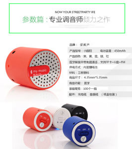 Portable Mini Bluetooth Speaker with Aux in