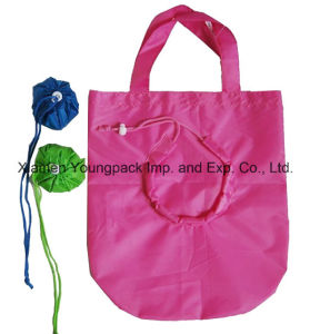 Promotional Nylon Folding Shopping Tote Bag in Pouch pictures & photos