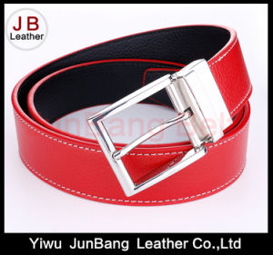 High Quality Reversible Buckle Mens PU Belt pictures & photos