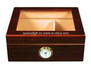 25-50 Cigar Desktop Humidor Royale Glasstop pictures & photos