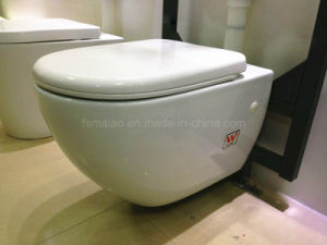 Modern Design Watermark Bathroom Sanitary Ware Round Wall-Hung Toilet (6005) pictures & photos