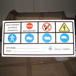 Competitive Price 2mm Thickness Warning Sign for Sale pictures & photos