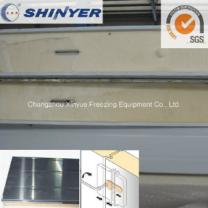 200mm Polyurethane PU Sandwich Panel with 0.6mm Stainless Steel Plate pictures & photos