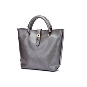 Ladies Double Top Handle and Side Shoulder Strap PU Handbag Wzx1160 pictures & photos