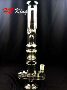 EL-K15 Triple Dome Shower Inline Percolater Glass Water Pipe pictures & photos