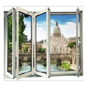 Framless Aluminium Glass Bi-Folding Window (TS-1119) pictures & photos