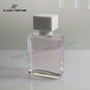 Square Perfume Bottle with Clear Glass