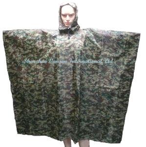 Waterproof Camouflage PVC Rain Poncho /Rainwear pictures & photos