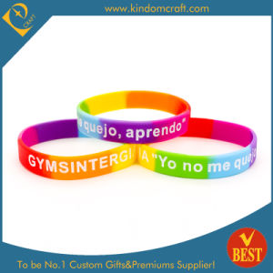 Supply Customized Logo Souvenir Silicone Bracelet for Publicity pictures & photos