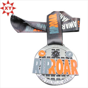Factory Cheapest Metal Medals Awards with Ribbon pictures & photos