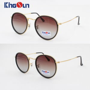 Lady′s Plastic Rim Sunglasses with Round Shape pictures & photos