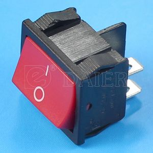Red Button Dpst Rocker Switch 4 Pin on-off pictures & photos