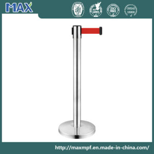 Stainless Steel Retractable Belt Barriers Airport Queue Line Post pictures & photos