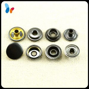 Flat Cap Round 4 Parts Metal Ring Snap Button for Wallet pictures & photos