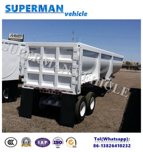 Two-Axle Dump Trailer 15cbm Tipper Dry Tipping Semi Truck Trailer pictures & photos