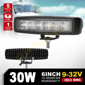 4X4 Offroad 6inch 30W LED Light Bar 30W LED Work Light, 6inch 30W LED Driving Light Osram Cr Ee LED Work Light for Jeep SUV ATV