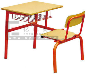School Furniture Single Desk and Chair, High Quality Desk and Chair, Study Table for School, Fixed Single Desk pictures & photos