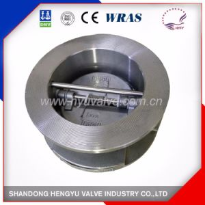 Stainless Steel Double Disc Check Valve with Spring pictures & photos