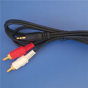 PVC Injection 3.5mm Plug to 2RCA Cable (ca-019) pictures & photos