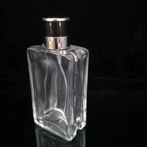 Simple Style Square Shape Men′s Perfume Glass Bottle pictures & photos