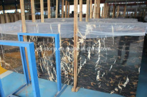 Cheap Marble/Granite Natural Stone Portoro Gold Slabs for Wall/Floor/Project pictures & photos