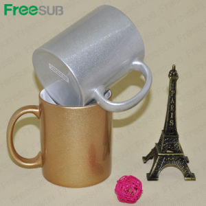 Freesub Photo Exclusive Personalized Custom11oz Silver and Golden Ceramic Sublimation Coffee Mug Mkb36 pictures & photos