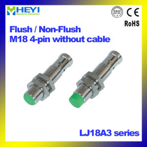 M18 * 70mm Inductive Proximity Sensor Without Cable Lj18A3 Series 4-Pin NPN / PNP / AC / DC pictures & photos