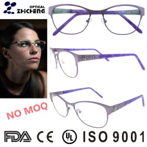 Chinese Wholesale Diamond Metal Glasses Frame for Women pictures & photos