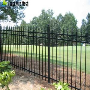 Black Powder Coated Tubular Fence / Steel Fence / Wrought Iron Fence pictures & photos