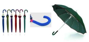 16 Ribs Stick Manual Edge Wooden Umbrella (YS-SM25163416R) pictures & photos
