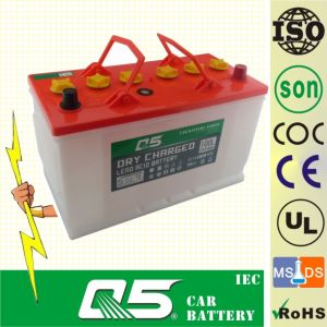 JIS-N90L 12V90AH, Super Dry Car Battery Auto Truck with Long Life Time pictures & photos