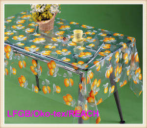 PVC Printed Transparent Tablecloths in Roll Hot Sales pictures & photos