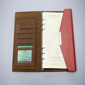 Leather Cover Notebook Printing with Pocket Inside The Cover pictures & photos