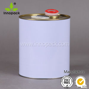 Oil Chemical Round Metal Tin Can with Spout pictures & photos