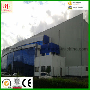 Pre-Engineered Prefab Light Structural Steel Building with Curtain Glass Wall pictures & photos