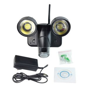 Newest Technology 30m Illumination Waterproof 720p Video Record WiFi Security Light Camera Zr720 Wireless Night Vision PIR Flood Light Camera pictures & photos