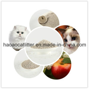High Quality Original White Bentonite Cat Litter-Apple Scent pictures & photos